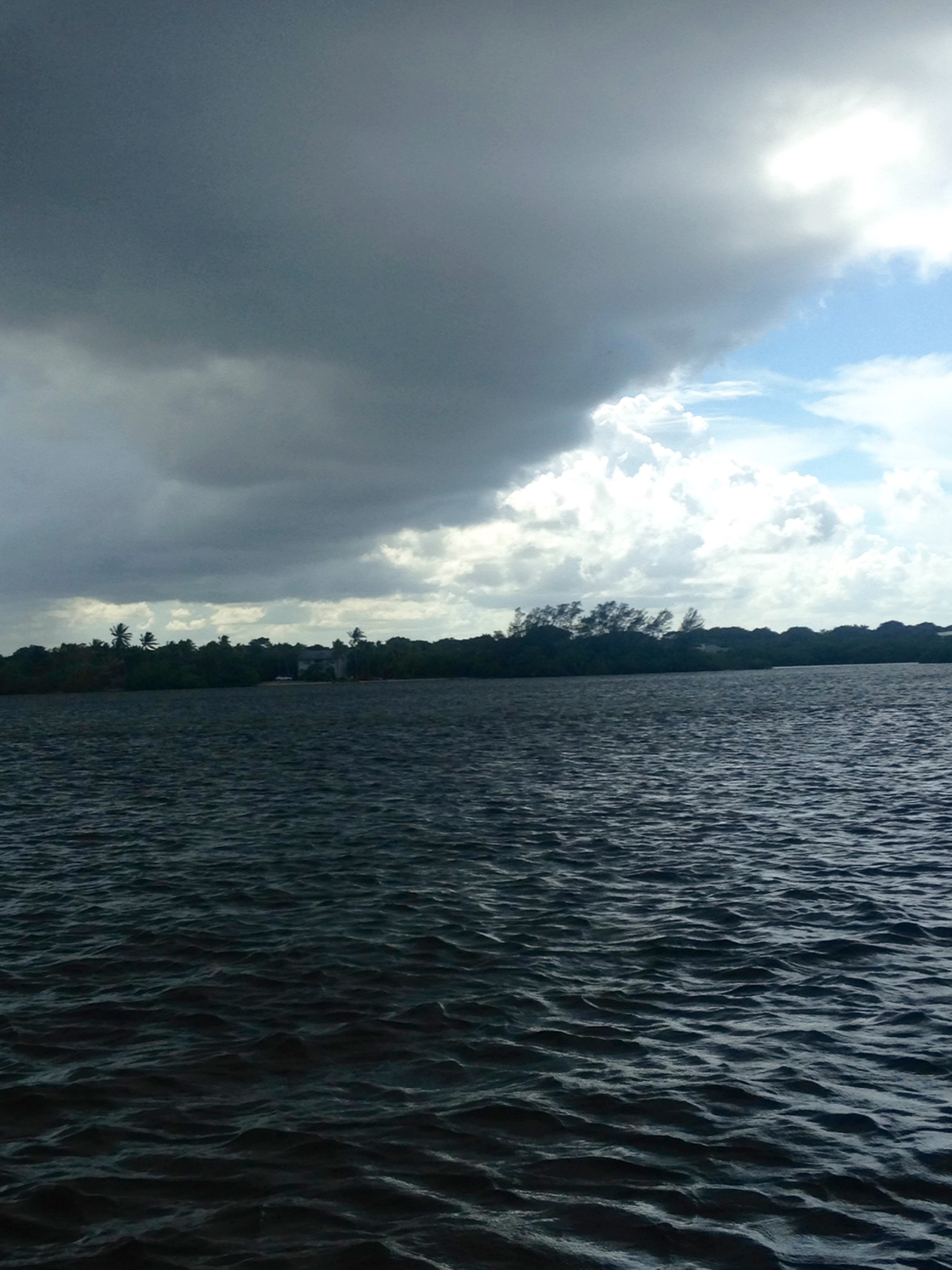Storm on the water.