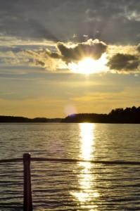 Sunset on the Stockholm archipelago.