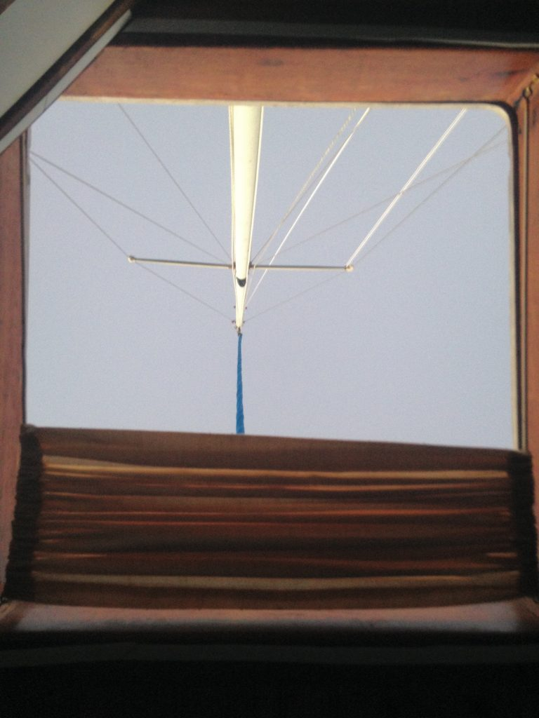 The mast, as seen from the V-berth in the morning.